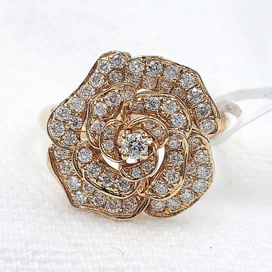 .50ct Rose Diamond Women's Ring 18K Rosegold