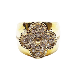 4.35ct Alhambra Diamond Men's Ring 18K Gold