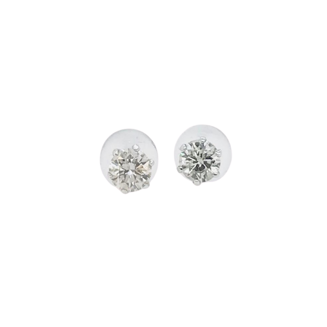 .40tcw Diamond Stud Earrings in 18K Gold with Silicon Lock