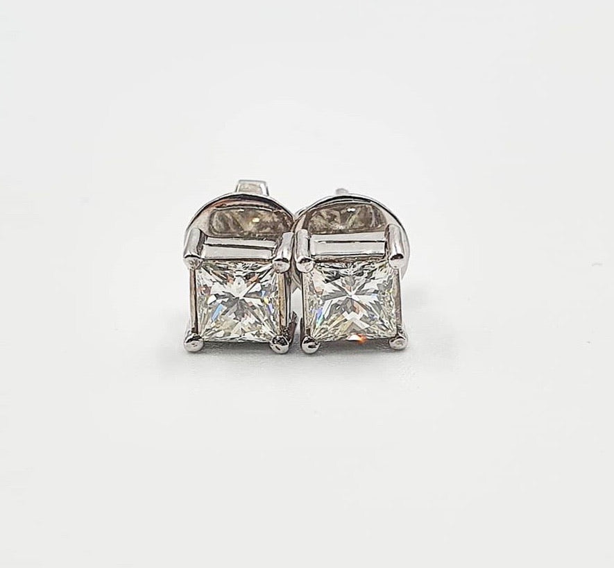 1.43ct Diamond Stud Earrings in 14k White Gold - ZNZ Jewelry Philippines