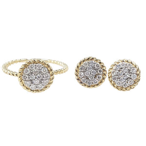 .76ctw Round Diamond Jewelry Set 14K Gold
