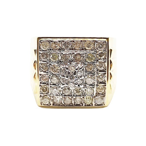 1.5ct Diamond Men's Ring 14K Gold