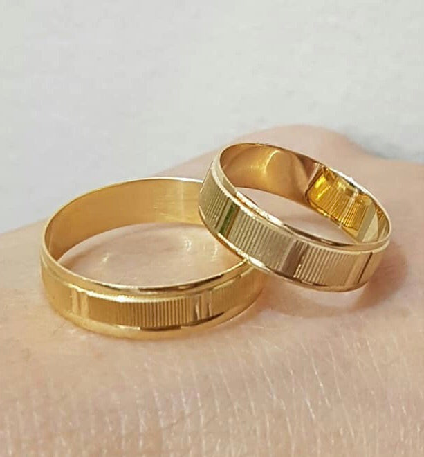 CALLISTA 18K Gold Wedding Bands, Couple Rings - ZNZ Jewelry Philippines