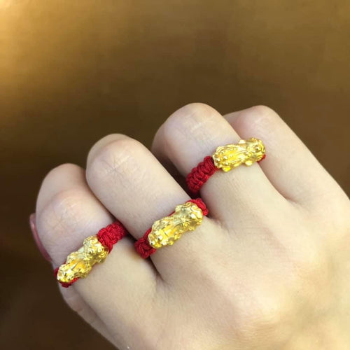 PI XIU Ring in 24K Gold for Men and Women - ZNZ Jewelry Philippines