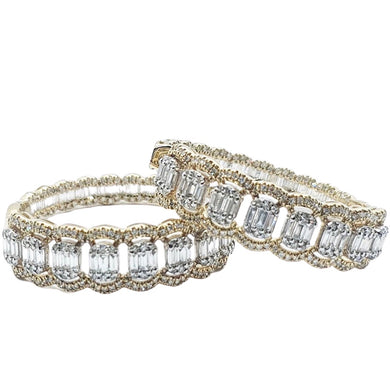 2.0ct Diamond Hoop Earrings 14K Gold