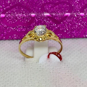 CARA 18K Gold Solitaire Engagement Ring - ZNZ Jewelry Philippines
