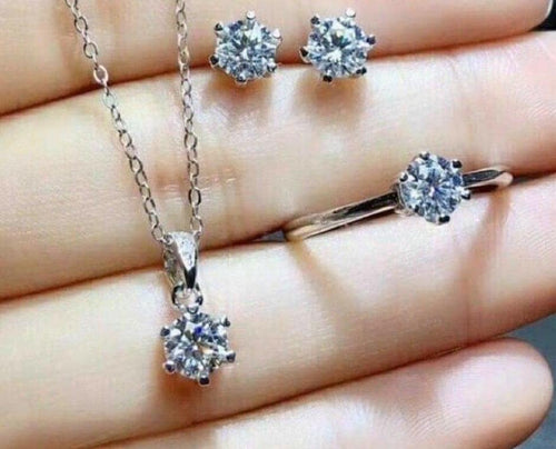 .40ct Diamond Stud Jewelry Set White Gold
