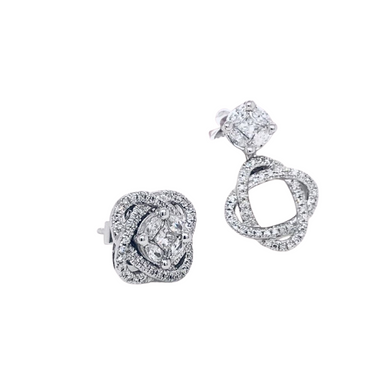 .67ctw Diamond a Three-Way Earrings in 14K Gold