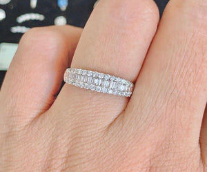 Half Eternity Ring with Round and Baguette Diamonds Holly