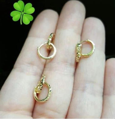 Kid's Hoop Earrings 18K Gold