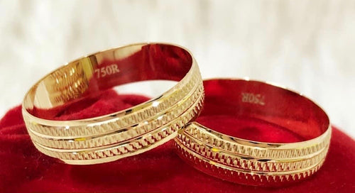 MOIRA 18K Gold Wedding Bands, Couple Rings - ZNZ Jewelry Philippines