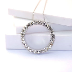 2ct Diamond Necklace 18k White Gold