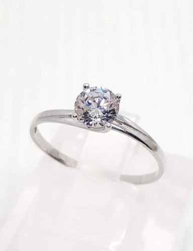 Engagement Ring 18k White Gold