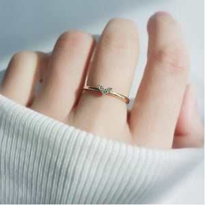 Dainty Heart Illusion Diamond Engagement / Women's Ring