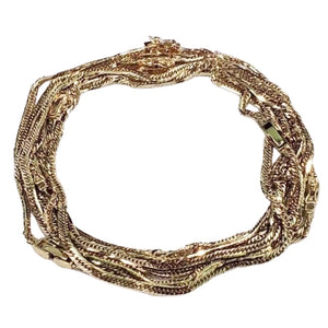 Anklet 18K Gold Japan 10 Cut Cadena Chain