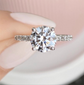 Moissanite Engagement Ring / Women's Ring - Pre Order