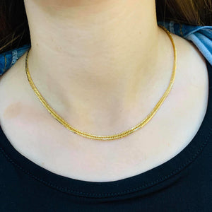 18K Gold Cuban Link Chain Necklace 10g, 16inches - ZNZ Jewelry Philippines