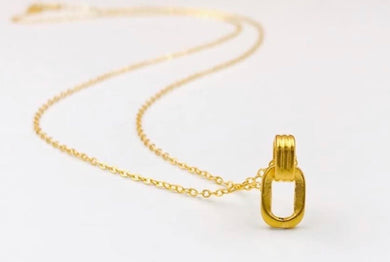 Interlocking Necklace 24K Gold with 18K Gold Chain