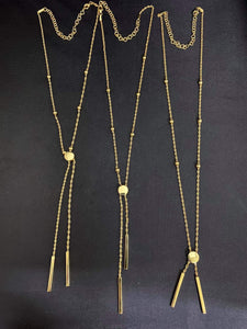 Adjustable Drop Necklace 18K Gold
