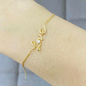 Love Gold Bracelet for Women 18K with Crystal
