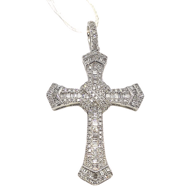 Diamond Cross Pendant .46ctw 14K White Gold