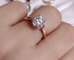 MARLENE Old European Cut Moissanite Engagement Ring, Made-to-order - ZNZ Jewelry Philippines