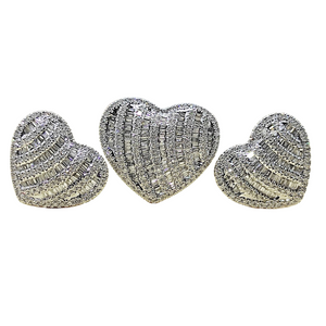 1.4ctw Heart Illusion Diamond Jewelry Set 14K White Gold