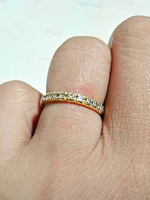 NOVA Half Eternity Slim Diamond Ring in 14K Gold - ZNZ Jewelry Philippines