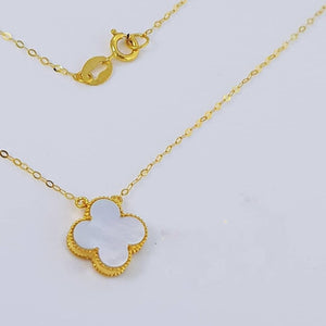 Women's Necklace 18K Gold White