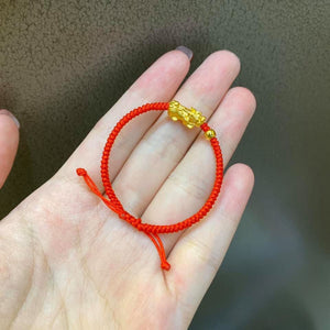 Baby Bracelet PI XIU (piyao) in 24K Gold - ZNZ Jewelry Philippines