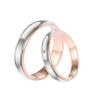 FLORENCE Diamond Two-Tone Wedding Rings