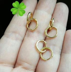 Kid's Hoop Earrings 18K Gold Smooth