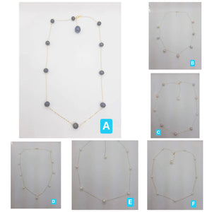 Freshwater Pearl Choker Necklace 18K Gold Adjustable 16-18""