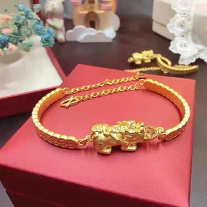 Dragon Bracelet in 24K Gold