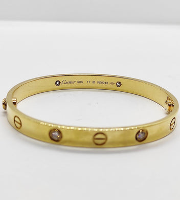 Love Diamond Screw Type Bangle in 18K Yellow Gold