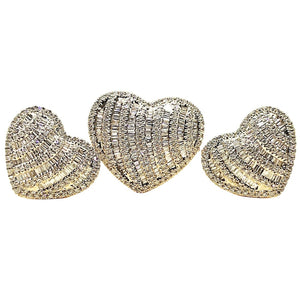 1.4ctw Heart Illusion Diamond Jewelry Set 14K Yellow Gold