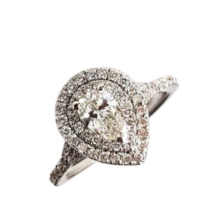 .30ct GIA Certified Pear Diamond Ring for Women, Engagement Ring, Anniversary, Birthday Gift
