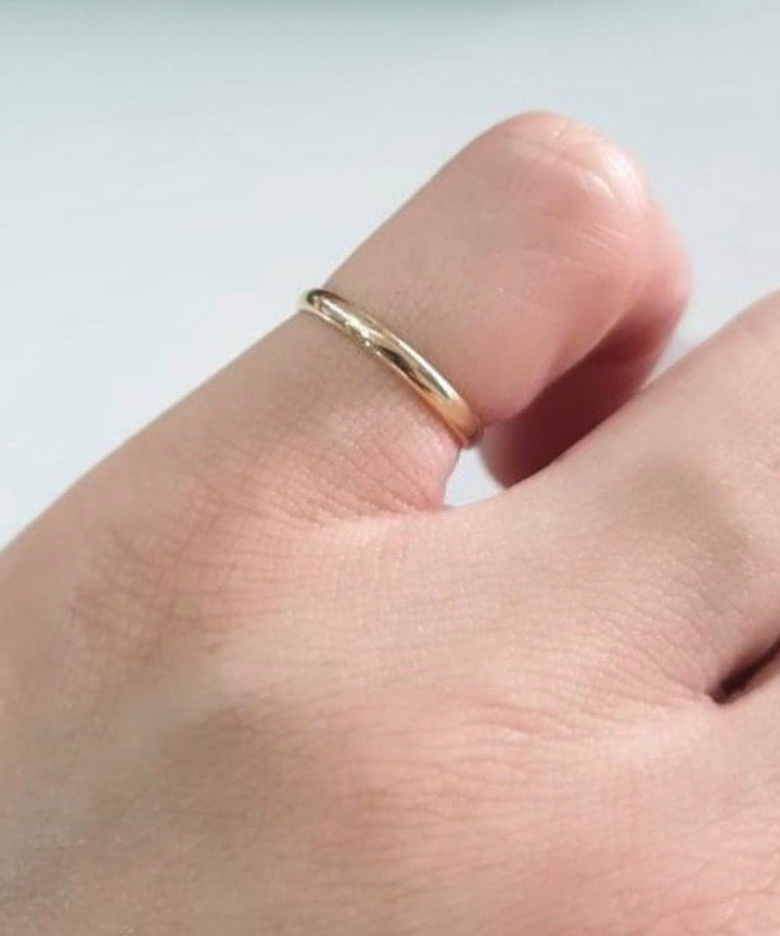 LIV 18K Gold Ultra Thin Modern Wedding Rings, Couple Rings - ZNZ Jewelry Philippines
