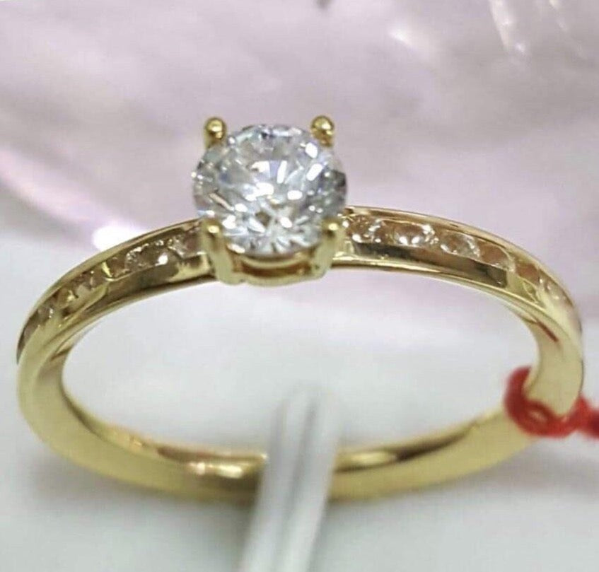 FIONA Full Eternity Engagement Ring in 18K Gold - ZNZ Jewelry Philippines