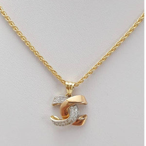 18K Gold Women's Necklace jn10tt5 - ZNZ Jewelry Philippines
