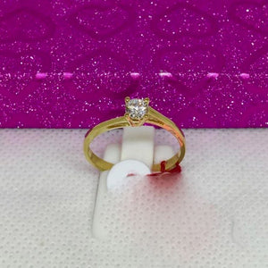 KIM 18K Gold Solitaire Engagement Ring, Bypass Shank Design - ZNZ Jewelry Philippines