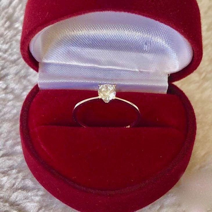 Engagement Ring 18k White Gold 1.5 ct Solitaire CECILIA - ZNZ Jewelry Philippines