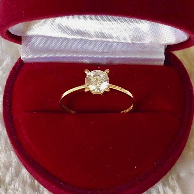 Engagement Ring 18k Gold 2 ct Solitaire VALERIE - ZNZ Jewelry Philippines