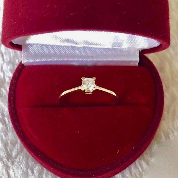 Engagement Ring 18k Gold 1 ct Solitaire REESE - ZNZ Jewelry Philippines