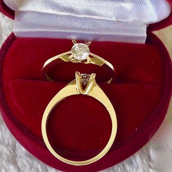 Engagement Ring 18k Gold 1 ct Solitaire PARKER - ZNZ Jewelry Philippines