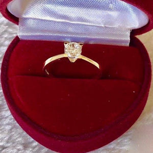 Engagement Ring 18k Gold 1.5 ct Solitaire LAUREN - ZNZ Jewelry Philippines