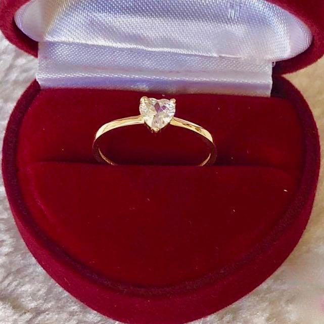 Engagement Ring 18k Gold 1.5ct Heart Solitaire AMARA - ZNZ Jewelry Philippines