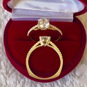 Engagement Ring 18k Gold 2ct with Side Stones KHLOE - ZNZ Jewelry Philippines