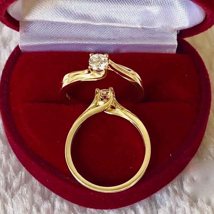 Engagement Ring 18k Gold 1ct with Twist Band JASMINE - ZNZ Jewelry Philippines