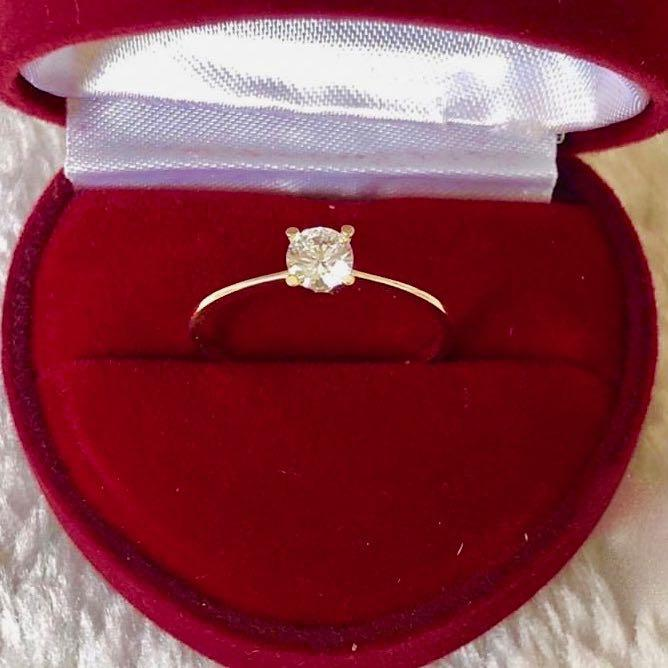Engagement Ring 18k Gold 1.5ct Solitaire MELODY - ZNZ Jewelry Philippines